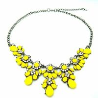 Rhinestone Crystal Flower Choker Collar Chunky Statement Bib Necklace Jewelry