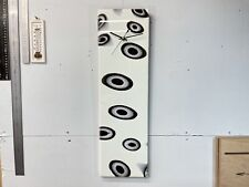 Pale Green with Black and White dots,  Abstract Resin Wall Clock