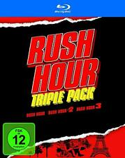 RUSH HOUR TRILOGY BLU RAY 1 2 3 MOVIE FILM COMPLETE COLLECTION NEW UK COMPATIBLE