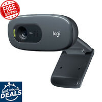 Logitech C270 HD Webcam, 720p video with Built-in Mic AU Stock Fast Shipping