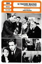 FICHE CINEMA : LE FAUCON MALTAIS - Bogart,Astor,Huston 1941 The Maltese Falcon
