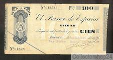 Spain 100 Pesetas 1936 Zf / Vg  pn S554