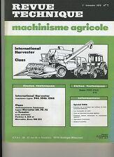 (3A)REVUE TECHNIQUE AGRICOLE CLAAS / TRACTEUR HARVESTER INTERNATIONAL