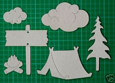#  Chipboard Sizzix Camping Collection