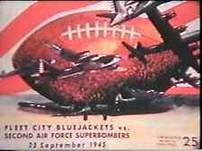 1945 Service Football DVD FLEET CITY Navy v 2nd AF Superbombers YOUNG  SINKWICH