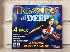 treasures of the deep --- 4-pack of action adventure computer games --- new