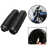 2x Rubber Front Fork Motorcycle Dust Cover Gaiters Gaitors Boots Shock Absorber
