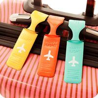 Porte-étiquette de bagage nom rayé adresse ID valise sac étiquettes voy ST