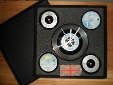 BNIB 4 x VINYL COASTERS + VINYL CLOCK GIFT SET 1960'S RECORDS VARIOUS ARTISTS