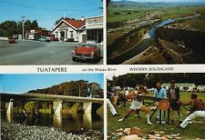 TUATAPERE on WAIAU RIVER NEW ZEALAND POSTCARD - WESTERN SOUTHLAND NZ PC