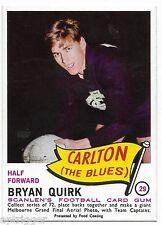1966 Scanlens (29) Bryan QUIRK Carlton  { Mint }