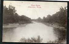 (8833) 1918  P/C CLEARLAKE, WA RIVER SCENE