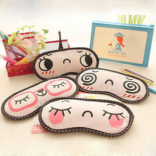 1Pc Kawaii Sleeping Eye Mask Blindfold Shade Travel Sleep Aid Cover Light Guide