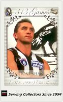 AFL COLLINGWOOD CLUB HALL OF FAME COLLECTION 300 GAMES #53 TONY SHAW