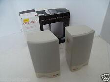 Labtec 2-Piece Computer Speakers Space-Saver Audio 4 Ohms 80Hz-16KHz LCS-1010
