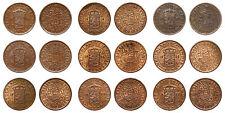 Netherlands Indies - Lot ½ Cent 1914 / 1939 - 9 stuks, hoge kwaliteit
