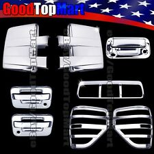 Chrome Covers For Ford F150 2009-2014 Mirrors+Doors+Tailgate+Tail Lights+Brake