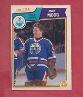 1983-84 OPC # 40 OILERS ANDY MOOG GOALIE   CARD