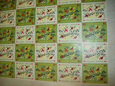 MINT SHEET BOOK WITH 21 CHRISTMAS SEAL STAMP SHEETS