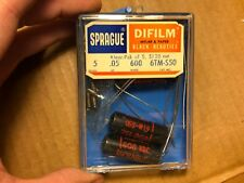 5 Nos Nib Vintage Sprague Black Beauty .05 uf 600v Capacitors Guitar Tone Caps