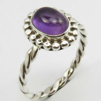 Natural Purple Cab AMETHYST Ring # 9.75 Handmade Jewelry 925 Sterling Silver