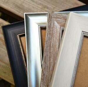 Falmouth Photo Poster Picture Frame Shabby Chic Black Silver Cream Brown UK