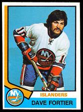 1974-75 OPC O PEE CHEE HOCKEY 382 DAVE FORTIER NM N Y NEW YORK ISLANDERS CARD