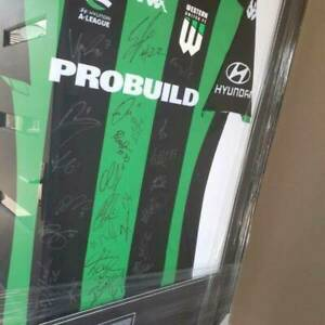 FREE DELIVERY WITHIN 48 HOURS FRAMED Western United FC Signed Jersey 2019/2020
