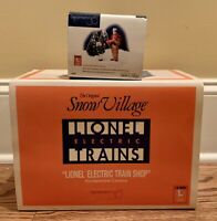 Dept. 56, Snow Village, Set of 2. Lionel Electric Train Shop #2202 & Accessory