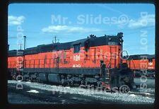 Original Slide B&LE Bessemer & Lake Erie SD9 830 Greenville PA 1986