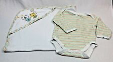 Baby OLLIES PLACE Romper Long Sleeve  & Cotton blanket wrap Size 3 - 6 months