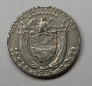 Panama 1/10 Balboa 1973 Copper-Nickel Clad Copper KM#10