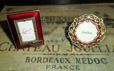 Lot of 2 Red & Crystal Mini Frames Jay Strongwater, Two's Company