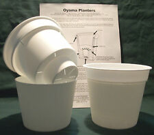 "Oyama Planter 5"" white Self Watering Pots African violet Set of 2 free shipping"