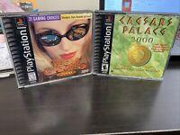 Playstation Vegas Games 2000 And Caesars Palace 2000 Lot