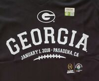 NEW! Georgia Bulldogs Licensed 2018 Rose Bowl Womens V-Neck T-Shirts SIZE: Small