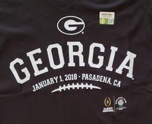 NEW! Georgia Bulldogs Licensed 2018 Rose Bowl Womens V-Neck T-Shirts SIZE: Large