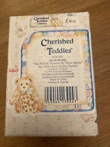 VINTAGE BOXED retired cherished teddies TEDDY BEAR jacob bearly 614785 dickens
