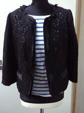 Luxurious Silk Monsoon Black14 Sequin Jacket Evening