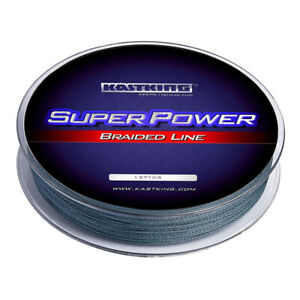 KastKing SuperPower Gray Braided Line - (150yds/ 20lbs) - Braid Fishing Line