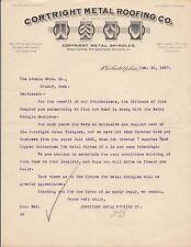 Pictorial Lettersheet~Cortright Metal Roofing~Shingles~Philadelphia, Penn 1927