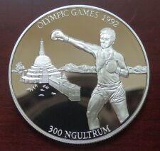 "Bhutan: 300 Ngultrum ""Olympiade Barcelona 1992"" 1992 - PP/Ag. !!"
