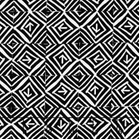 "Squares Arrows Black White Timeless Treasures 100% cotton Fabric Remnant 24"""