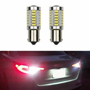 2X 1156 P21W BA15S 382 LED Reverse DRL Turn Sidelight Bulb 99%CANBUS Error Free