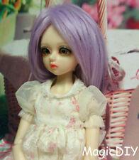 """7-8"""" 18-19cm BJD doll fabric fur wig Purple bjd hair for 1/4 bjd dolls"""