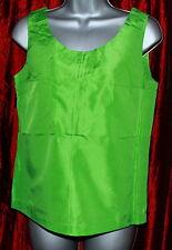 Silk Sleeveless Waist Length Women's Tops & Shirts