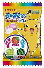 Taste Evolves Pokemon Soda pop candy LOTTE Japan LIMITED 8 Sweet packs