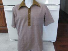 3dd8f42b 1950s 1960s vintage men's medium knit pullover shirt