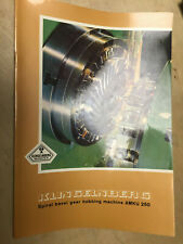 Vtg W Ferd Klingelnberg Sohne ~ Bevel Gear Hobbing Machine AMKU 250 Catalog