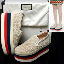GUCCI Ladies LACED PLATFORM SNEAKERS / SHOES with Box, Bag & Tag (38)